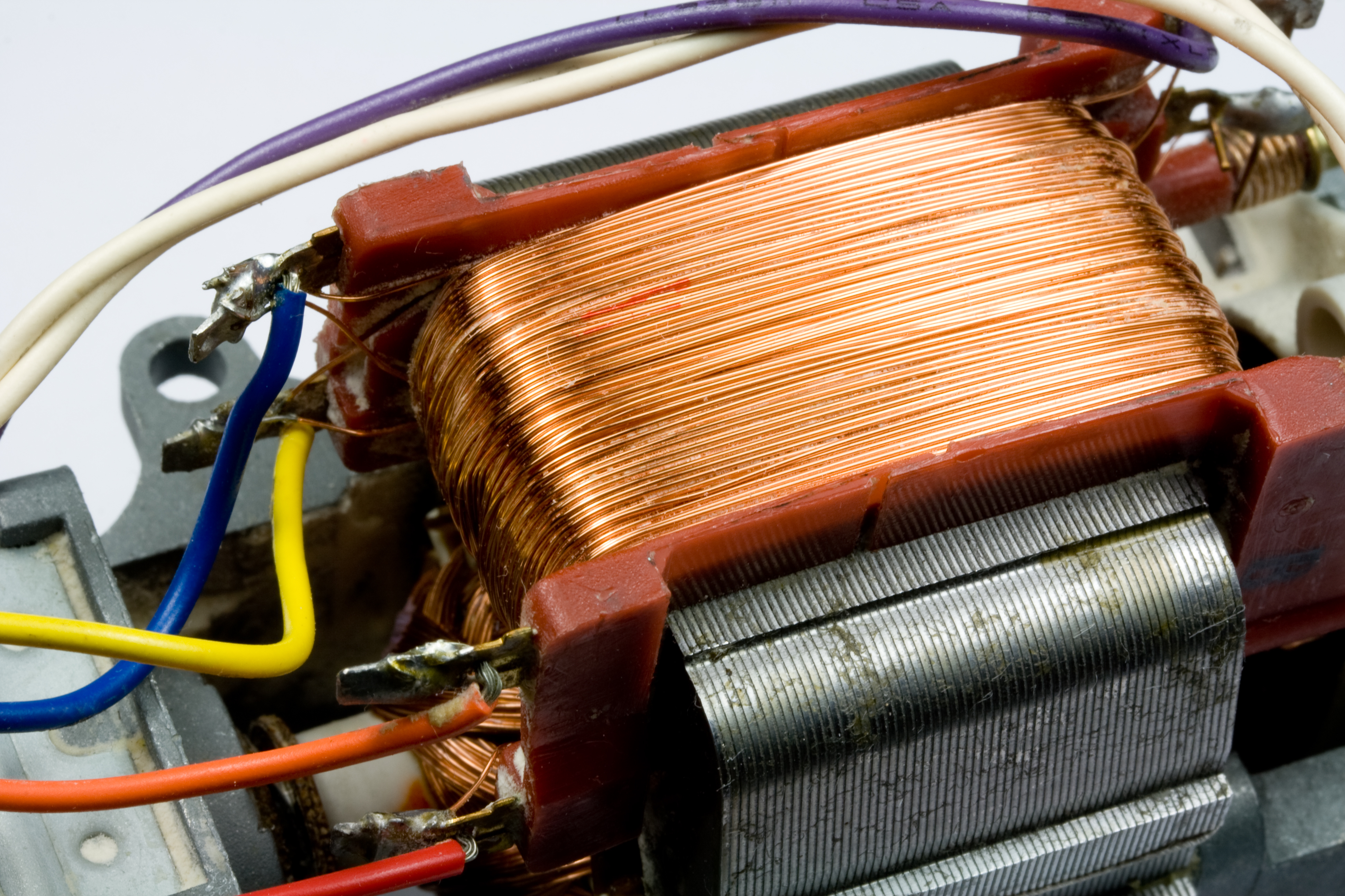 Copper Wire Inside Electric Motor